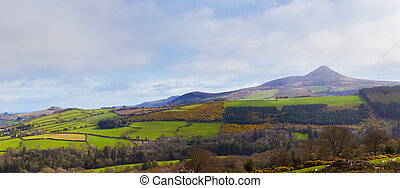 Panoramic view of Sugar Loaf and valley