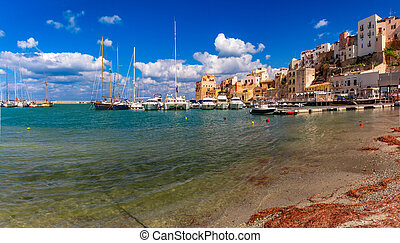 Castellammare del Golfo, Sicily, Italy - Panoramic view of ...