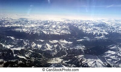 Panoramic view of Swiss Alps