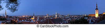 Panoramic View of Tallinn Old Town