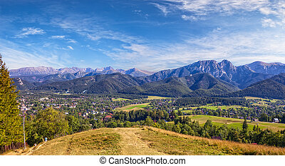 Panoramic view of Tatra Mountain