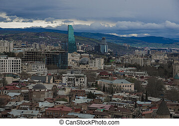 Panoramic view of Tbilisi town, Georgia