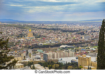 Panoramic view of Tbilisi town