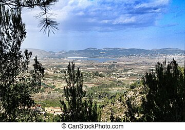 Panoramic view of the Albaida Valley in Valencia