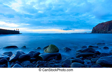 Atlantic ocean at twilight