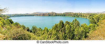 Babogaya Lake - Panoramic view of the beautiful Babogaya...