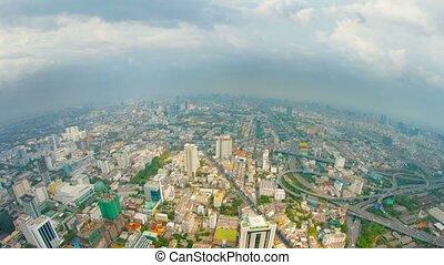 Panoramic view of the big city. Bird's-eye view. Bangkok