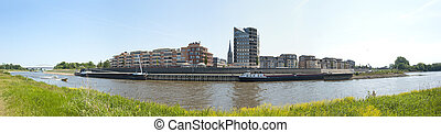 Panoramic view of the city Doesburg, the Netherlands -...