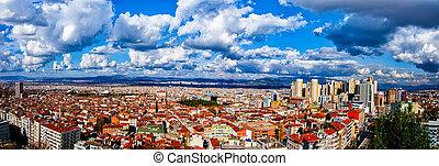 Panoramic view of the city of Bursa in Turkey