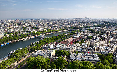 Panoramic view of the French capital