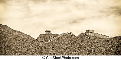 Panoramic view of the Great Wall