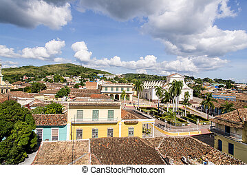 Old Colonial Village of Trinidad, Cuba. Trinidad is a town in central Cuba, known for its colonial old town and cobblestone streets. Photo taken on 3rd of November 2019