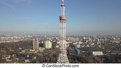 Panoramic view of the modern city and the television tower ...