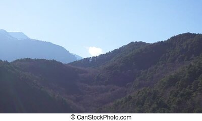 Panoramic view of the mountain range - Panoramic view of the...