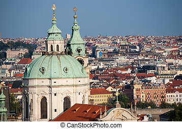 panoramic view of the Prague from the hill