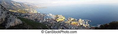 Panoramic View of the Principality of Monaco