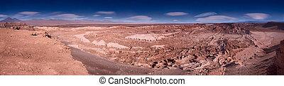panoramic view of the Valle de la Luna (Moon Valley) close to San Pedro de Atacama, Chile