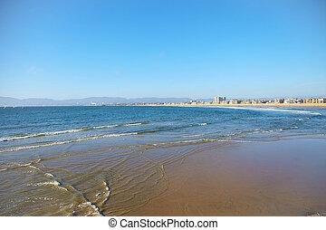 Panoramic view of the Venice Beach CA