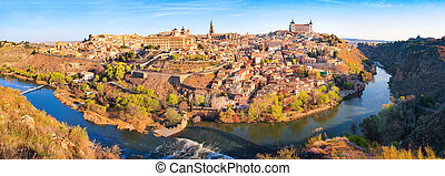 Panoramic view of Toledo, Spain - Panoramic view of the ...