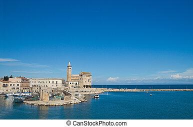 Panoramic view of Trani. Puglia. Italy.