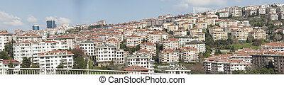 Panoramic view of urban housing district