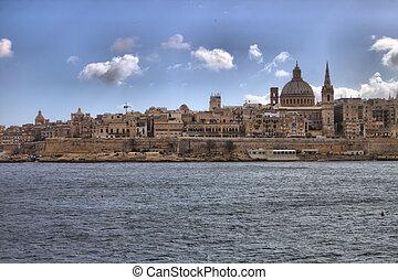 Panoramic view of Valletta