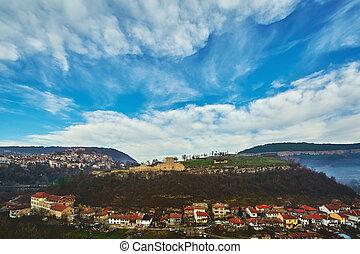 Panoramic View of Veliko Tarnovo - Panoramic View of Part of...