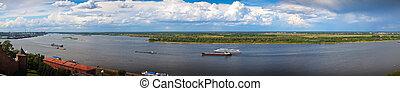 Panoramic view of Volga river