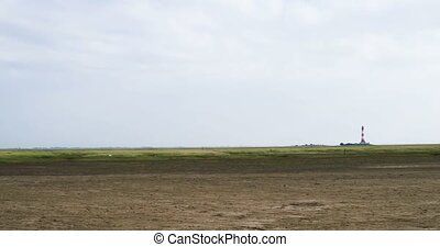 Panoramic view of Westerhever in Germany