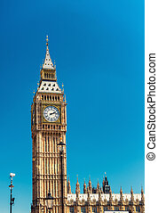 Panoramic view of Westminster Palace, Houses of Parliament - London, UK