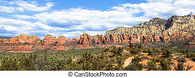 Panoramic view of wilderness landscape