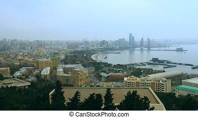 Panoramic view on Baku bay, Azerbaijan - Panoramic view of...