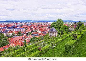 Panoramic view on Bamberg city center