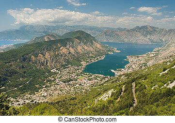 Panoramic view on Kotor, Montenegro