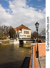 Panoramic view on Ostrow Tumski in Wroclaw, Poland