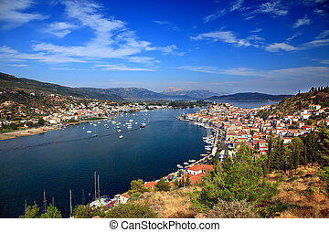 Panoramic view on Poros
