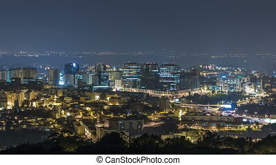 Panoramic View over Lisbon and Almada from a viewpoint in ...