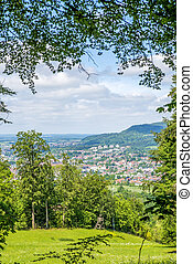 Panoramic view to a city in Germany