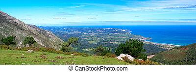 Panoramic view to Atlantic ocean