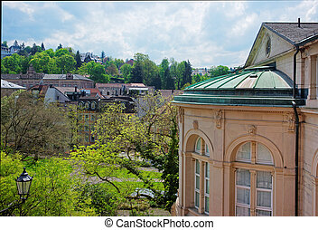 Panoramic view to Baden Baden in Germany
