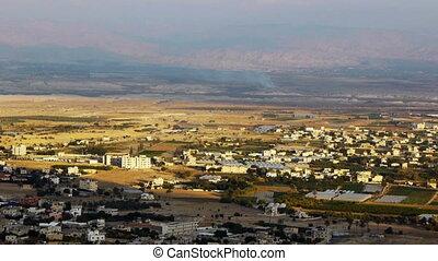 Panoramic view to Jericho, Palestine, Israel