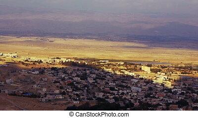 Panoramic view to Jericho, Palestine, Israel - Panoramic...