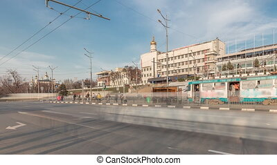 Panoramic view to Sergiyevsky Square and city crossroads ...