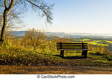 panoramic view to the Swabian Alb highlands, Germany