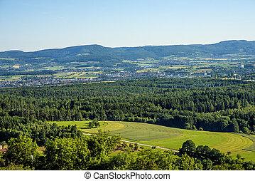panoramic view to the Swabian Alb