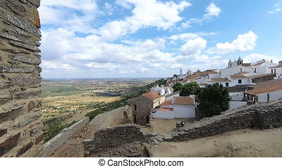 Panoramic view Village of Monsaraz in Portugal