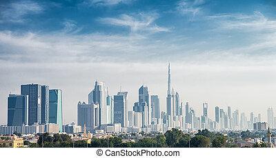 Dubai - panoramic views of Dubai at day