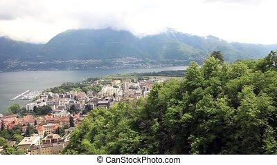 Panoramic views of Locarno. Switzer