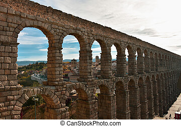 Panoramic views of Segovia Spain
