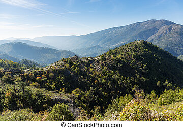 Panoramic views of the Alpes-Maritimes